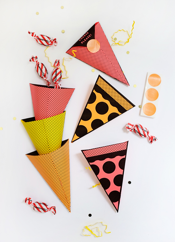 Printable Pizza Treat Pockets | Oh Happy Day!