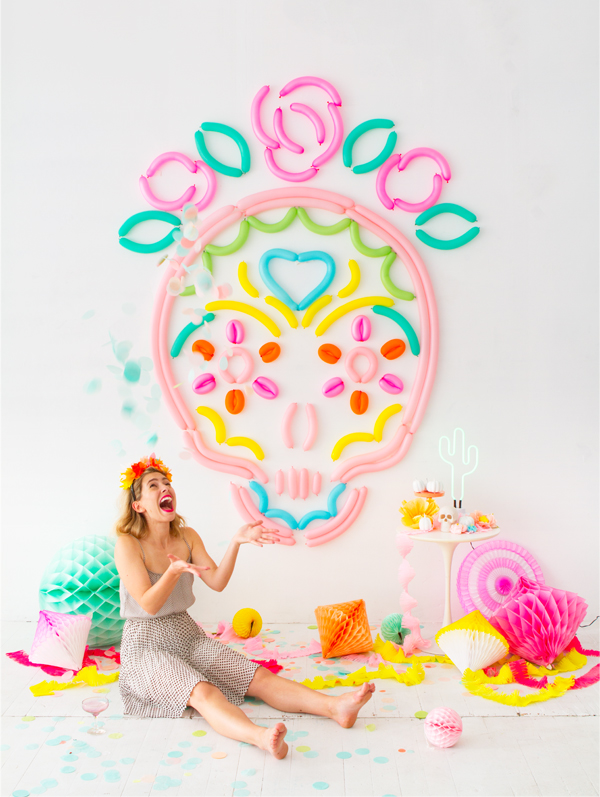 Sugar Skull Balloon Backdrop | Oh Happy Day!