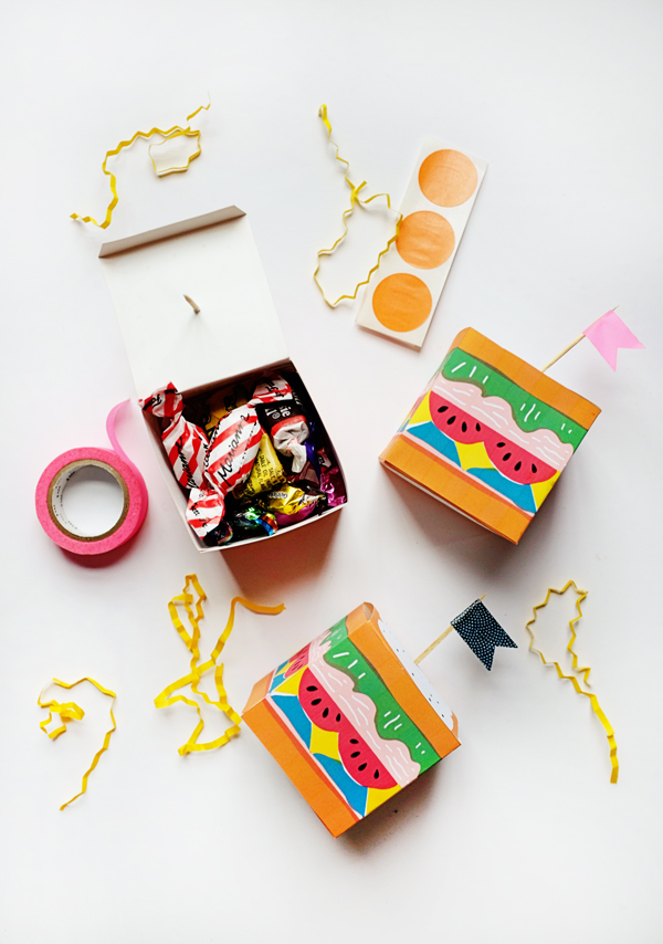 Printable Sandwich Treat Boxes   Oh Happy Day!