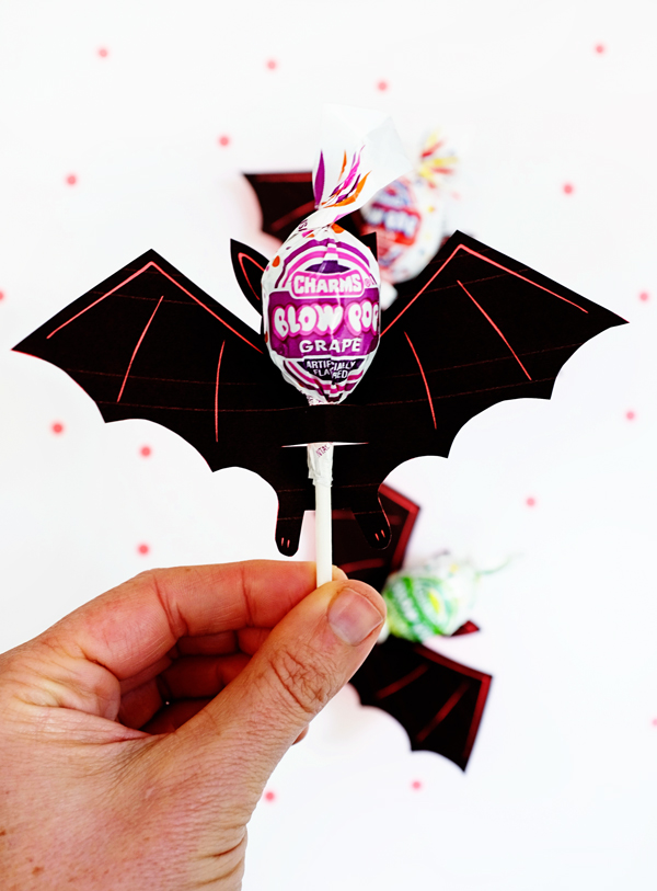 Printable Bat Lollipop Holder | Oh Happy Day!
