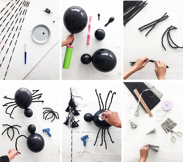 DIY Spider Balloon Sticks | Oh Happy Day!