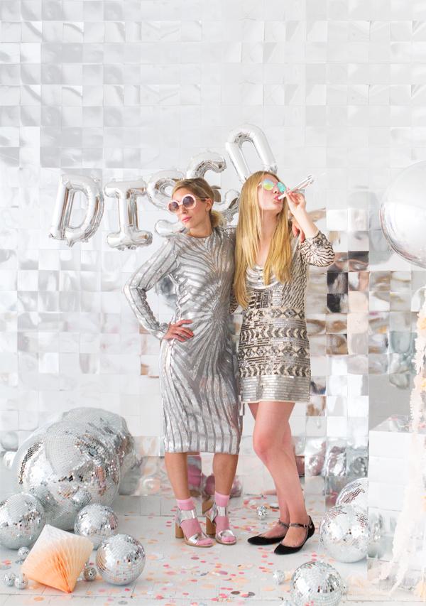 Disco Ball Photobooth Backdrop | Oh Happy Day!