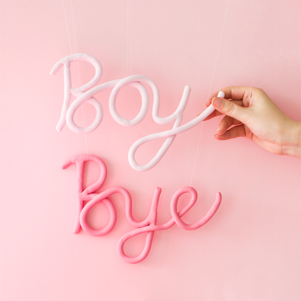 DIY Clay Words | Oh Happy Day!
