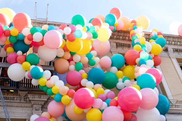 Geronimo Balloons + OHD Birthday Balloon Installation | Oh Happy Day!
