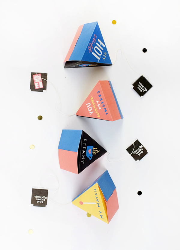 Printable Hot Tea Pyramids | Oh Happy Day!