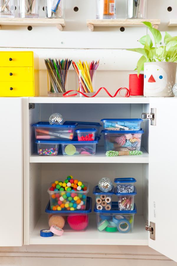 Craft Area Organization | Oh Happy Day!