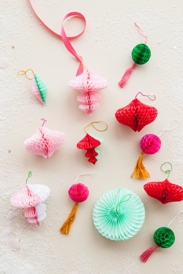 DIY Honeycomb Ornaments | Oh Happy Day!