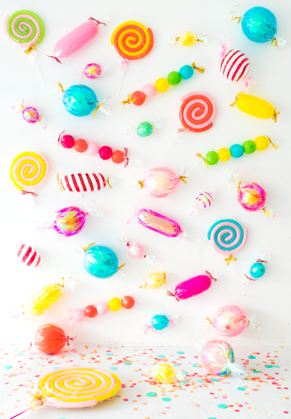 Candy Balloons Party Backdrop   Oh Happy Day!