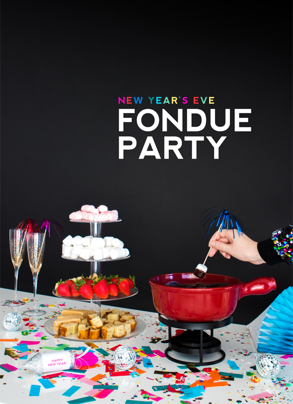 New Year's Eve Fondue Party | Oh Happy Day!