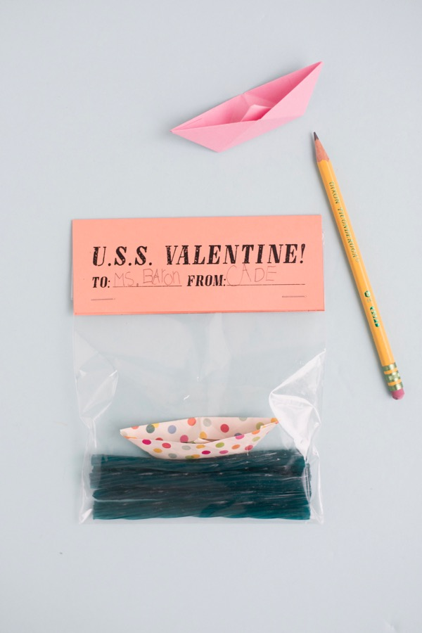 Paper Boat Valentines DIY | Oh Happy Day!