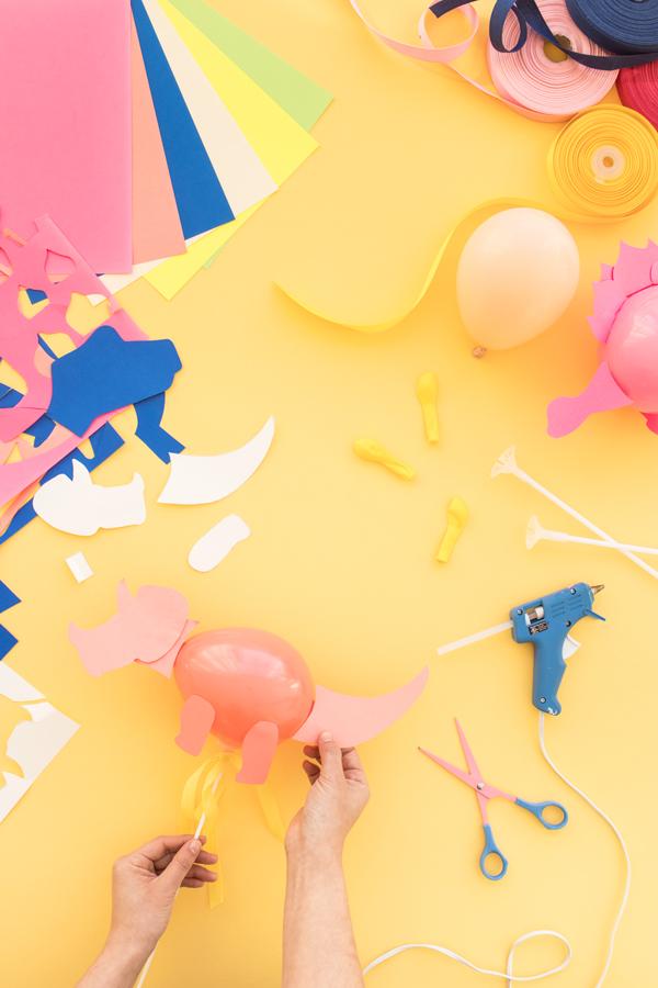 Mini Dinosaur Balloon Sticks | Oh Happy Day!