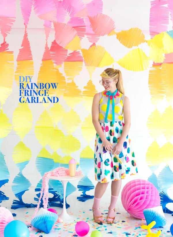 Big Rainbow Fringe Garland | Oh Happy Day!