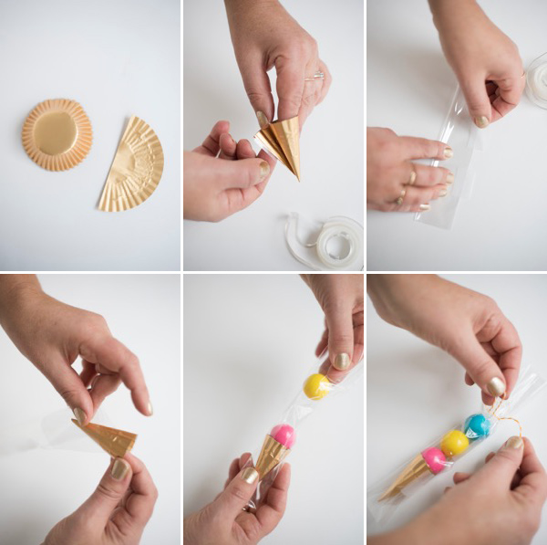 Gum Ball Ice Cream Cone Favors DIY | Oh Happy Day!