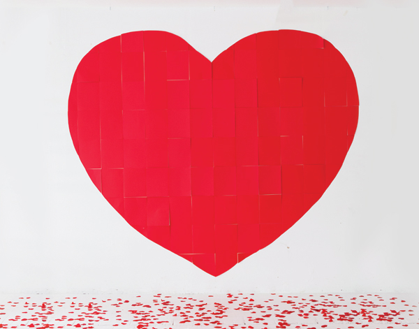 Giant Paper Heart Backdrop | Oh Happy Day!