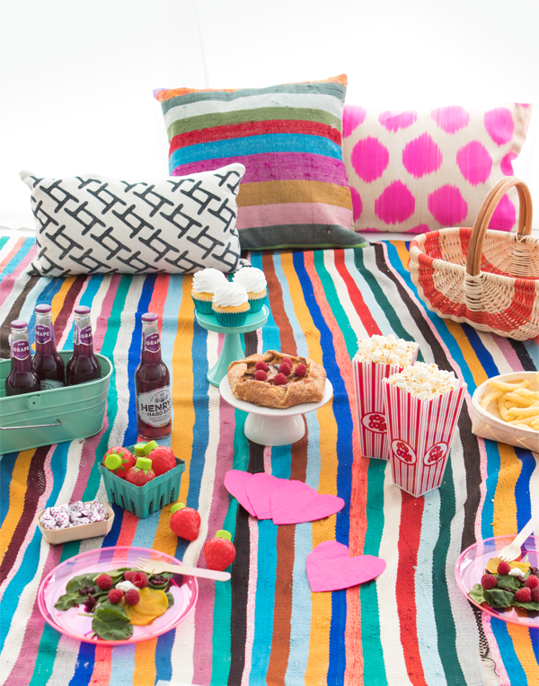 Colorful Indoor Picnic | Oh Happy Day!