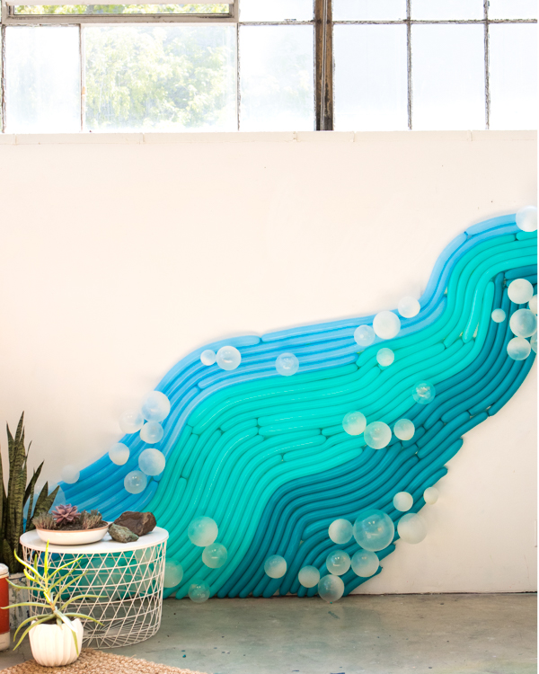 Water Inspired Balloon Installation | Oh Happy Day!