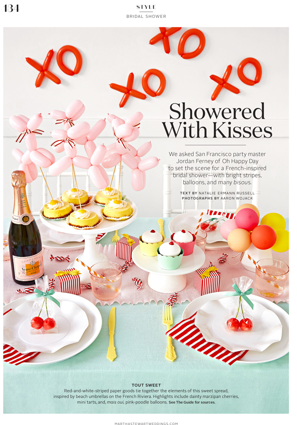 Martha Stewart Weddings French Kiss Shower