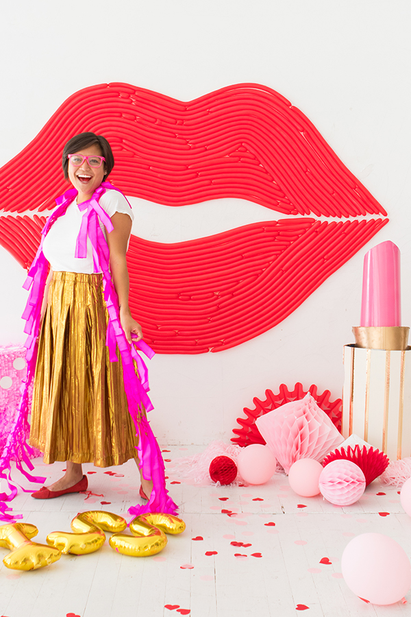Lips Balloon Wall | Oh Happy Day!