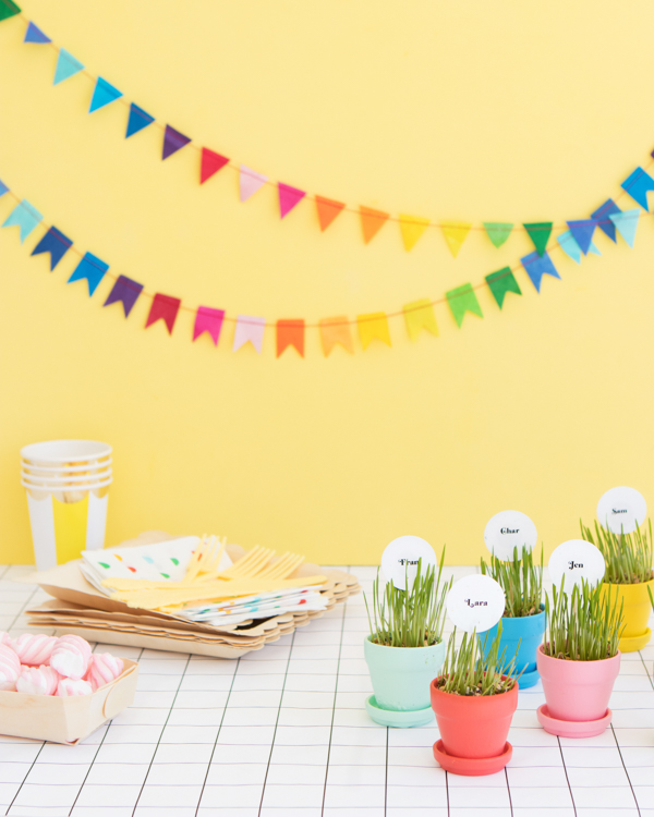 Mini Planter Placecards | Oh Happy Day!