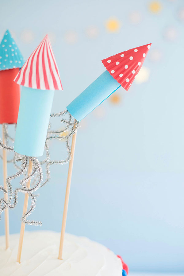 4th of July Rocket Cake Toppers | Oh Happy Day!