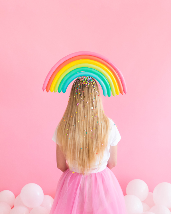 Rainbow Balloon Hats
