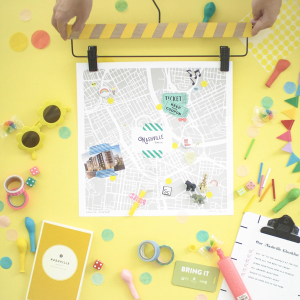 DIY Travel Map| Oh Happy Day!