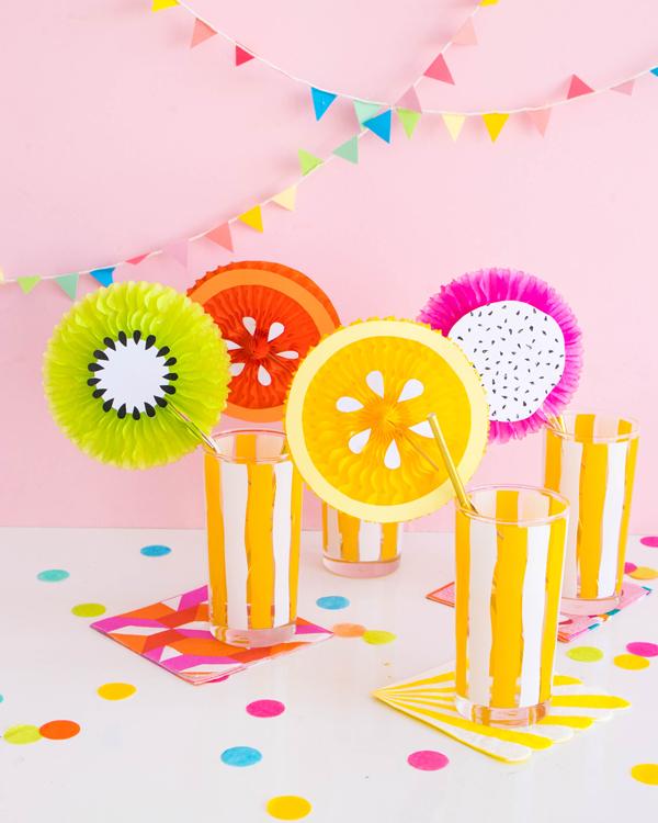 Fruit Fan Party Picks | Oh Happy Day!