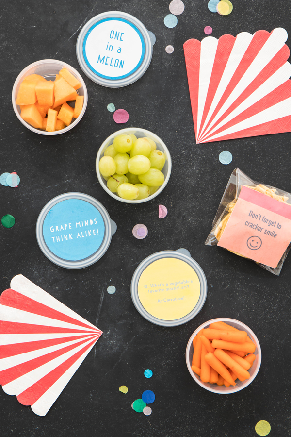 Back to School Punny Lunch Printables | Oh Happy Day!