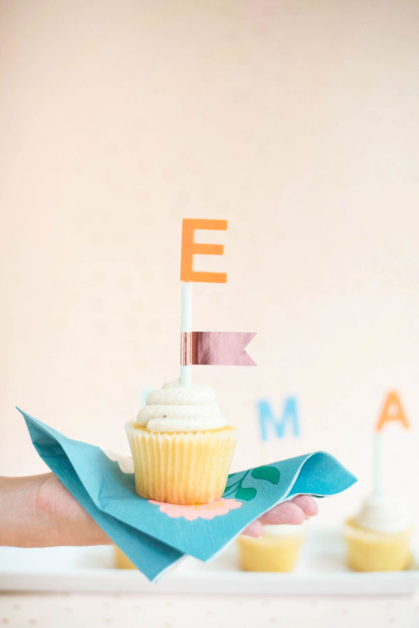Name Cake Toppers DIY | Oh Happy Day!