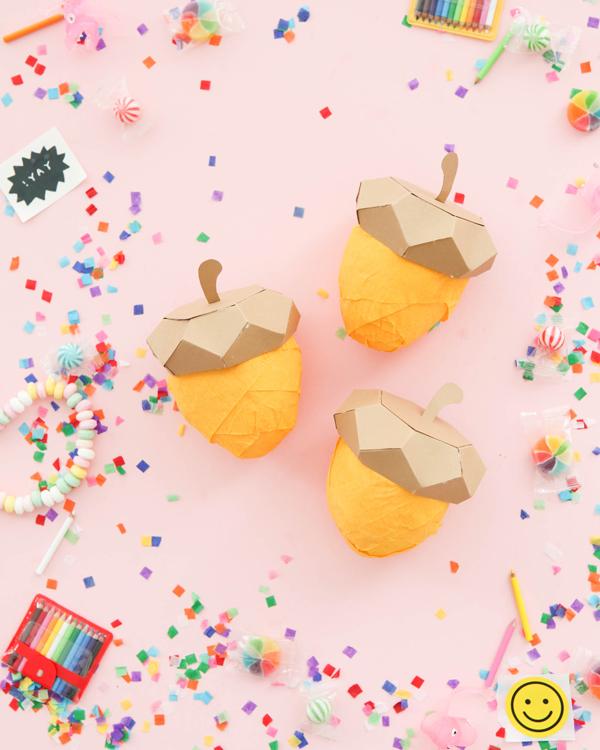 Acorn Surprise Ball DIY | Oh Happy Day!