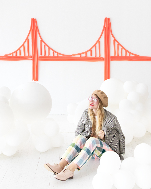 Golden Gate Bridge Balloon Wall | Oh Happy Day!