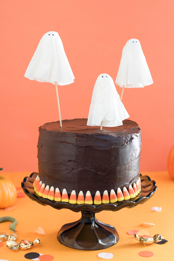 Ghost Cake Toppers DIY | Oh Happy Day!