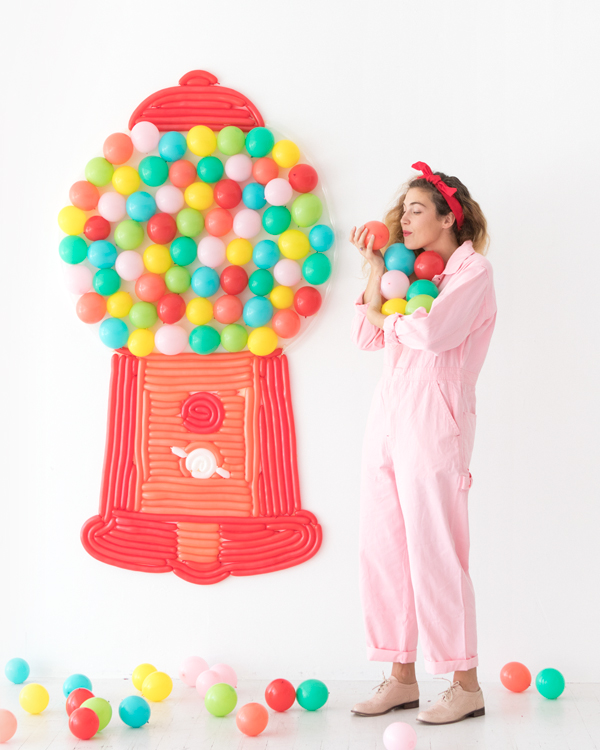 Gumball Machine Balloon Wall | Oh Happy Day!