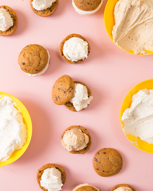 Piece of Cake: Pumpkin Chip Whoopie Pies | Oh Happy Day!