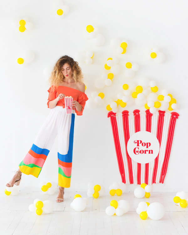 Popcorn Balloon Backdrop | Oh Happy Day!
