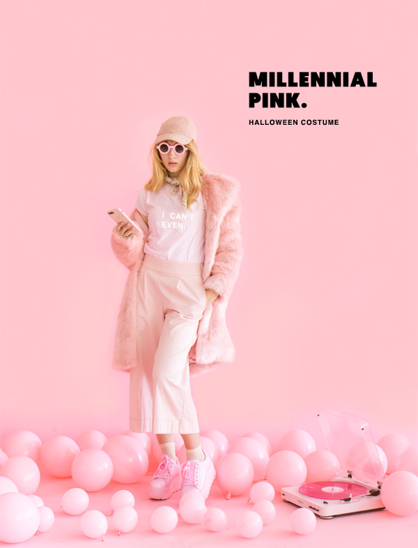 Millennial Pink Halloween Costume | Oh Happy Day!