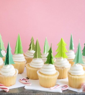 Evergreen Tree Cupcake Toppers | Oh Happy Day!