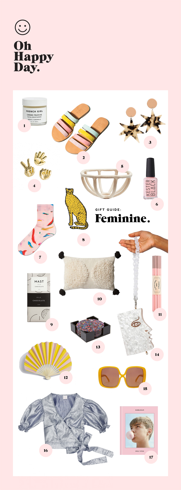 Holiday Gift Guide: Feminine | Oh Happy Day!