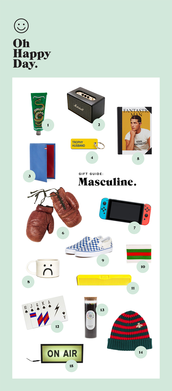 Holiday Gift Guide: Masculine | Oh Happy Day!