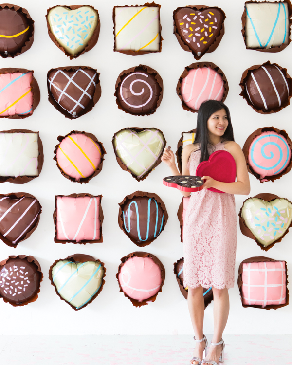 Chocolate Assortments Balloon Backdrop | Oh Happy Day!