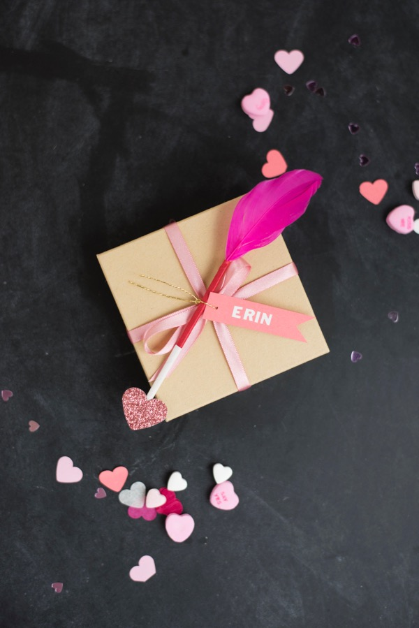 Cupid's Arrow Gift Toppers | Oh Happy Day!