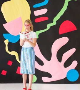 Giant Matisse-Inspired Art Backdrop | Oh Happy Day!