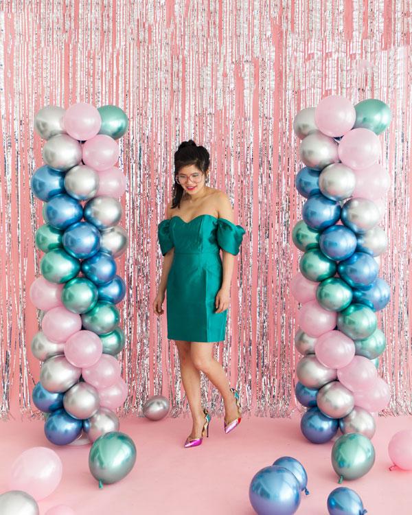 80's Prom Balloon Pillars | Oh Happy Day!