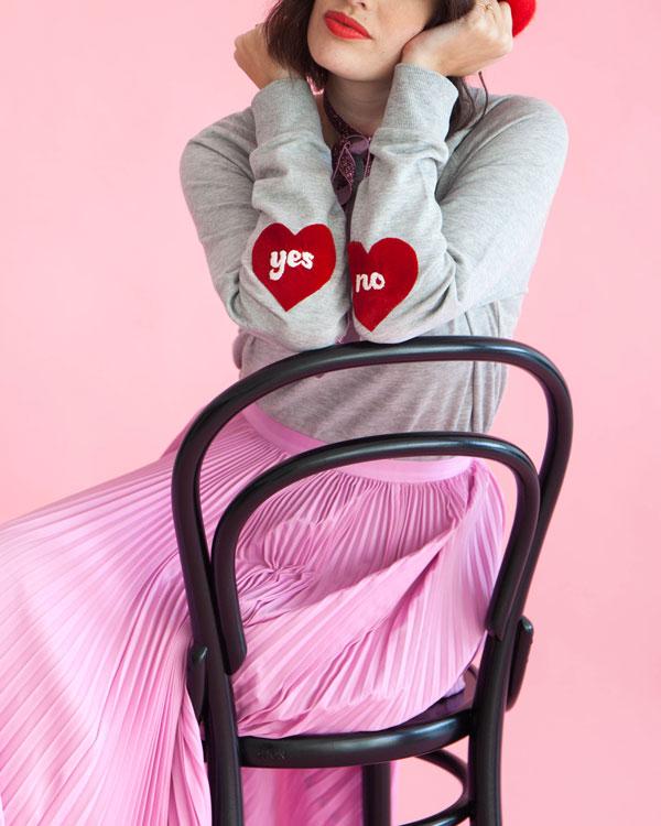 Heart Sleeve Sweatshirt | Oh Happy Day!