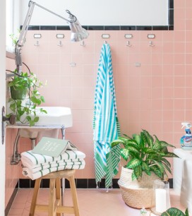 Tropical Bathroom Mini Makeover|Oh Happy Day!