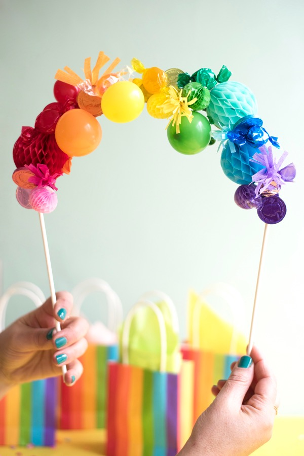 Rainbow Cake Topper DIY | Oh Happy Day!
