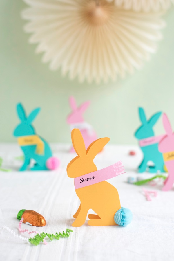 Easter Bunny Place Cards DIY | Oh Happy Day!