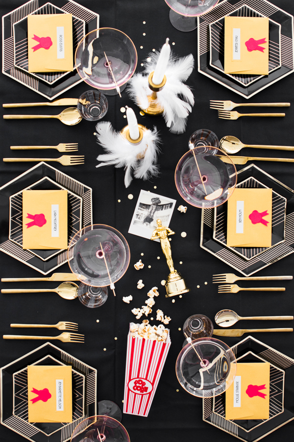 Oscars Watch Party: Gilded Dinner | Oh Happy Day!