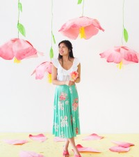 Giant Hanging Paper Flowers | Oh Happy Day!