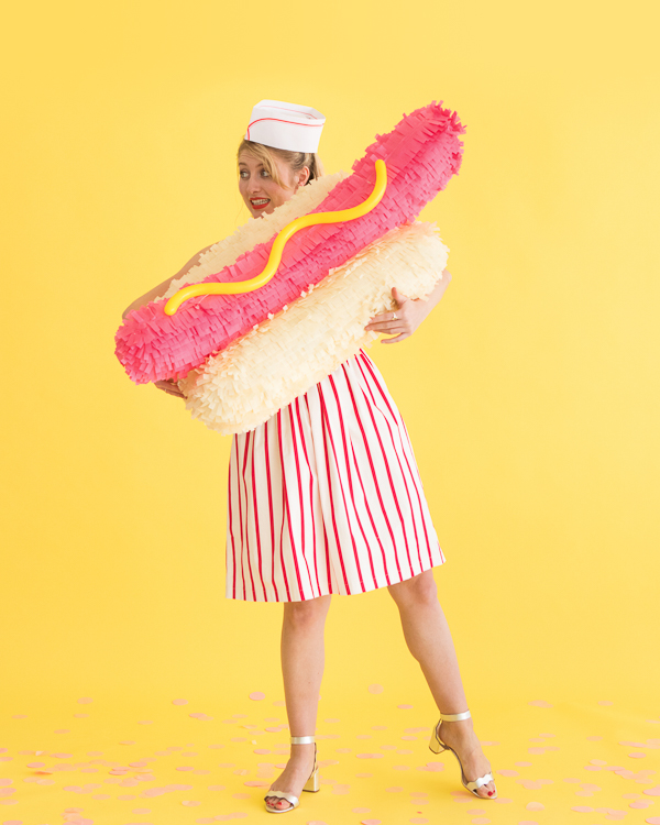 Hot Dog Pinata   Oh Happy Day!
